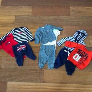 3 sets of Newborn Boy Clothes